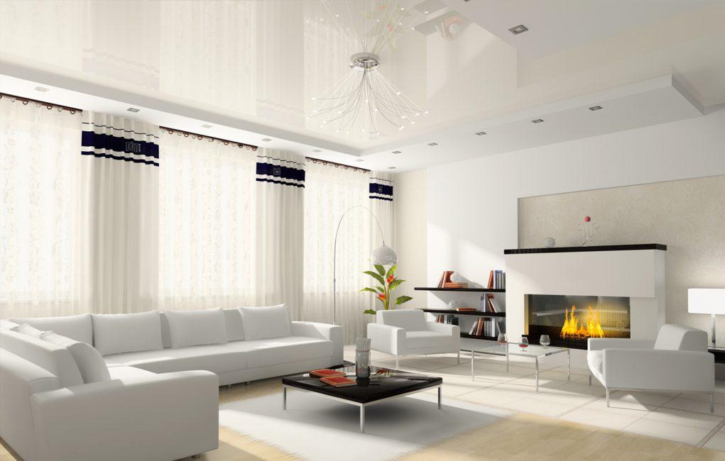 Белый визуально расширит комнату
