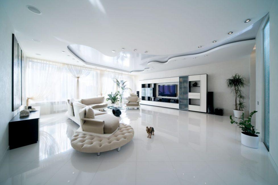 Нестандартная идея для оформления потолка