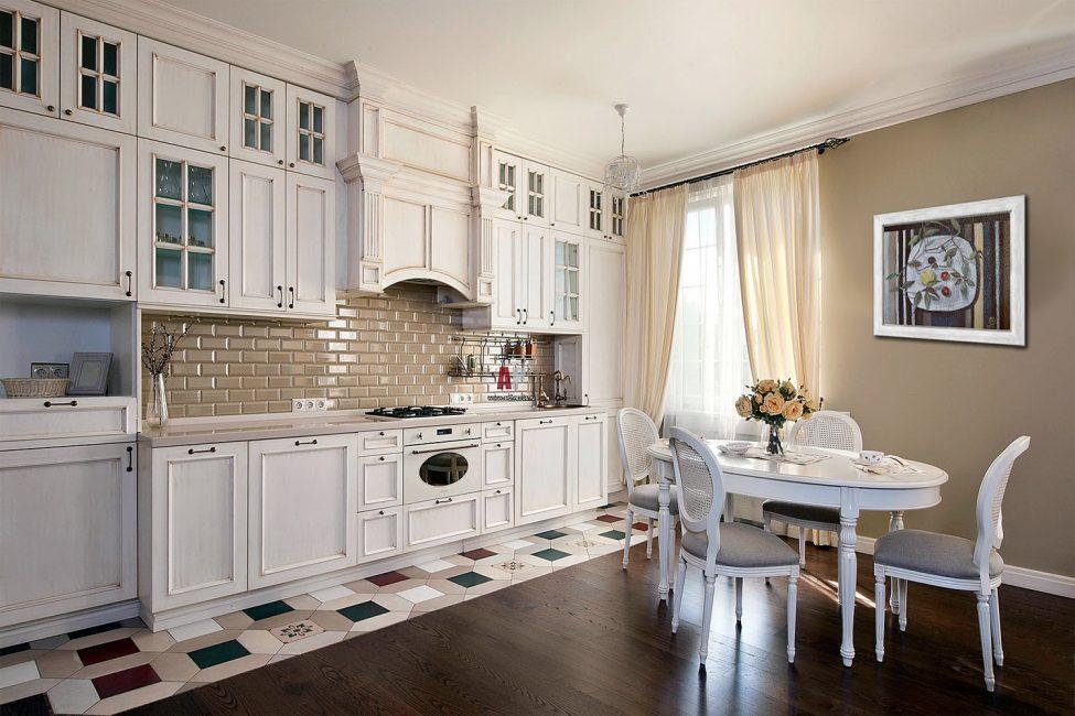 Эффект от полотна на кухне зависит от правильного расположения