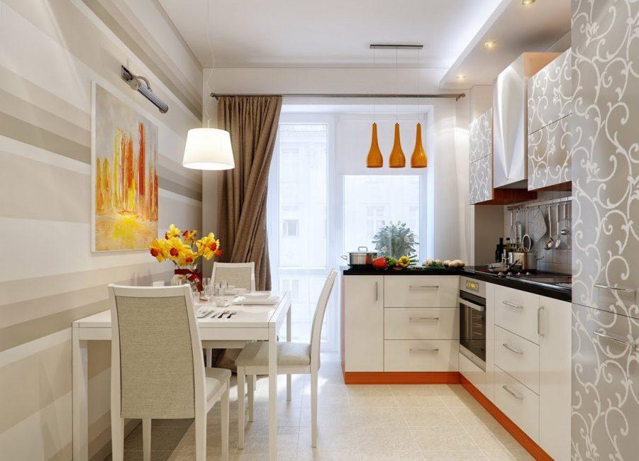 Картина дает возможность добавить цвета и украсить кухню