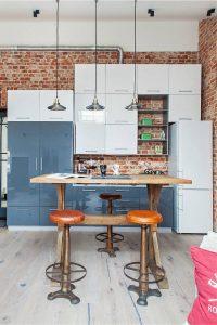 Урбанистический шик кухонь в стиле лофт - 255+ (Фото) Индустриальной атмосферы