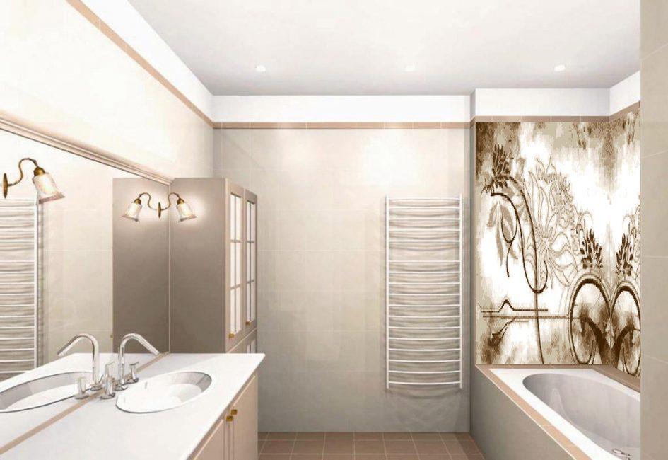 Комнату можно эффектно преобразить с помощью рисунка из плитки