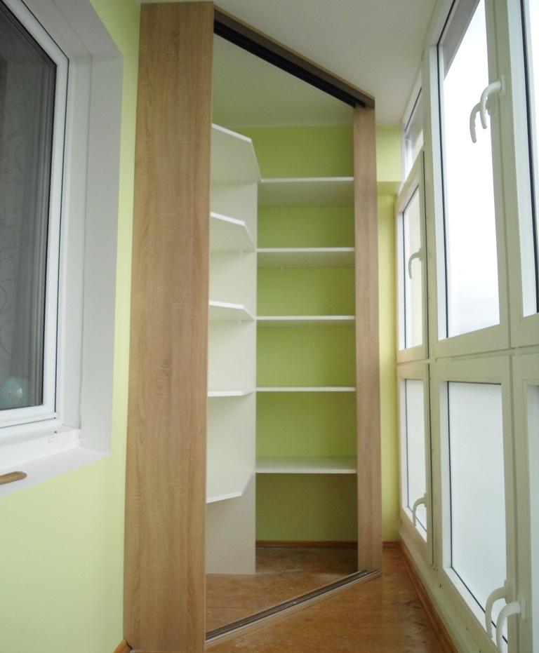 Шкаф на балкон, лоджию своими руками Угловой шкаф на лоджии: фотоотчет