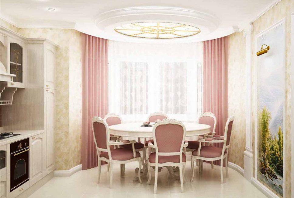 От цвета ткани зависит какова будет атмосфера помещения