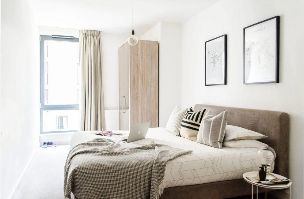 Уютная, светлая спальня