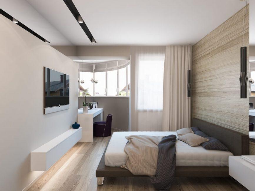 Стильная комната в бежево-коричневых тонах