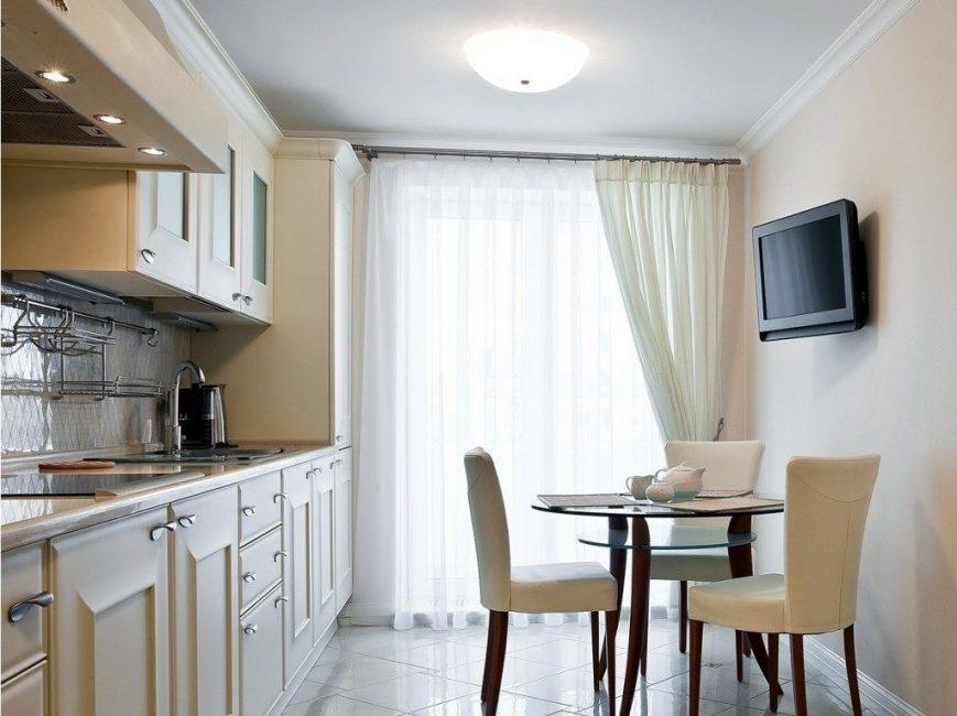 Легкая модель в тон с кухонным гарнитуром