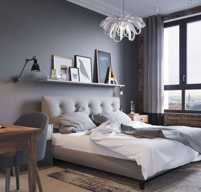 Классическая, стильная спальня