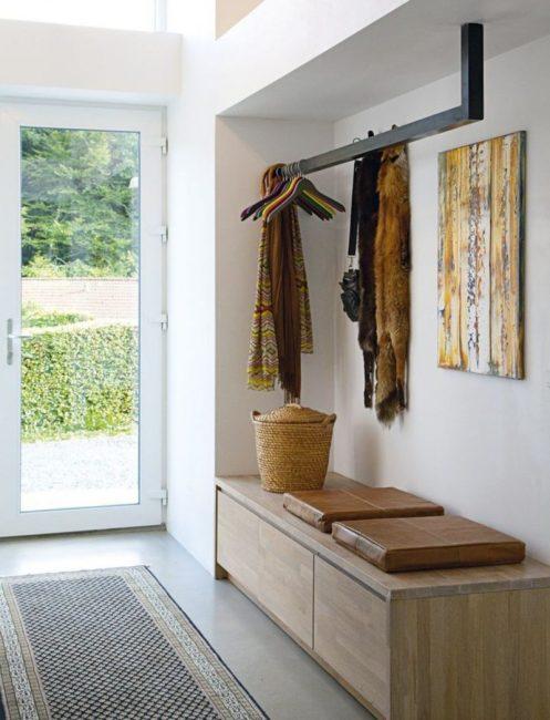 Интересное решение для хранения верхней одежды