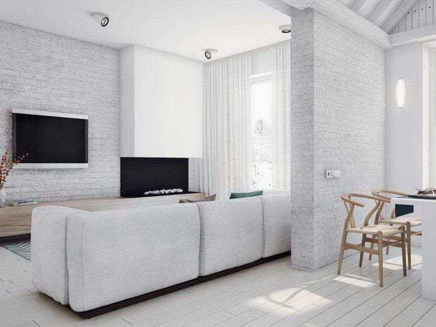 Белая квартира-студия