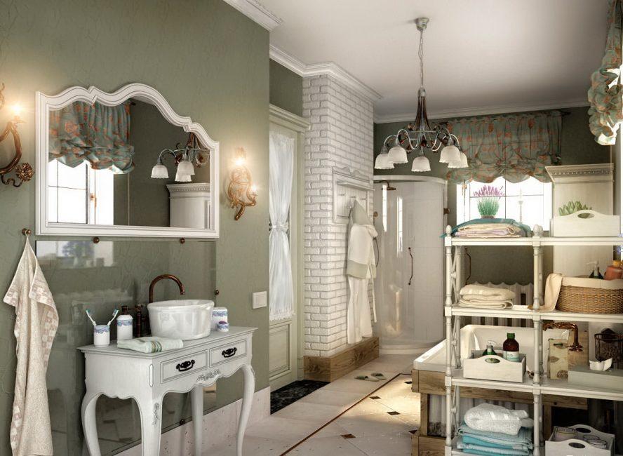 К мебели в ванной комнате подходите творчески