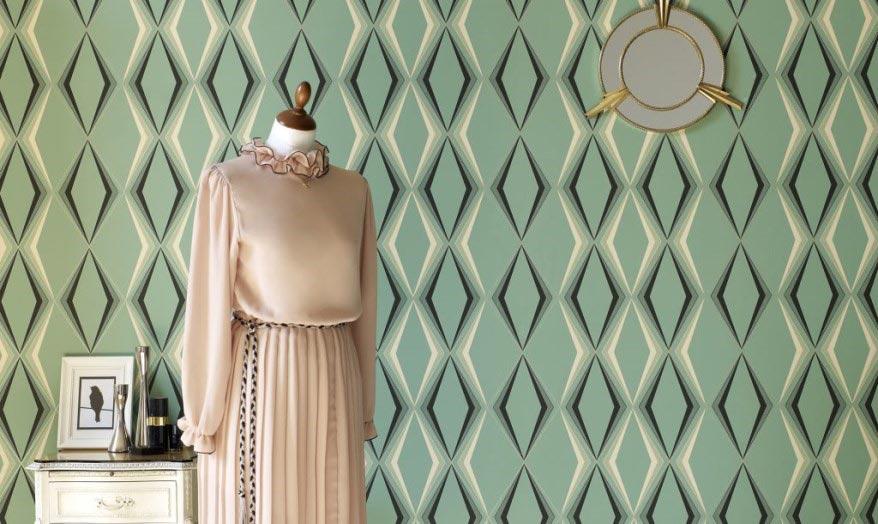 Зеленые обои: 200+ Фото Дизайна для вашего интерьера.  Какие обои подойдут для стен в спальне, кухне, гостиной?