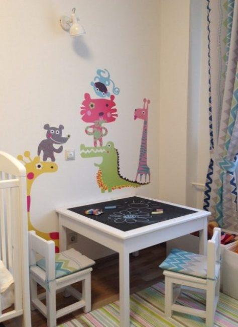 Возможность рисовать мелками - развивает фантазию малышей