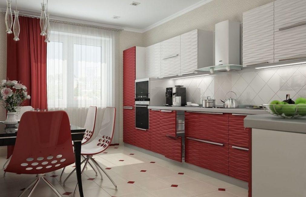 Для кухни лучше выбирать практичные моющиеся материалы