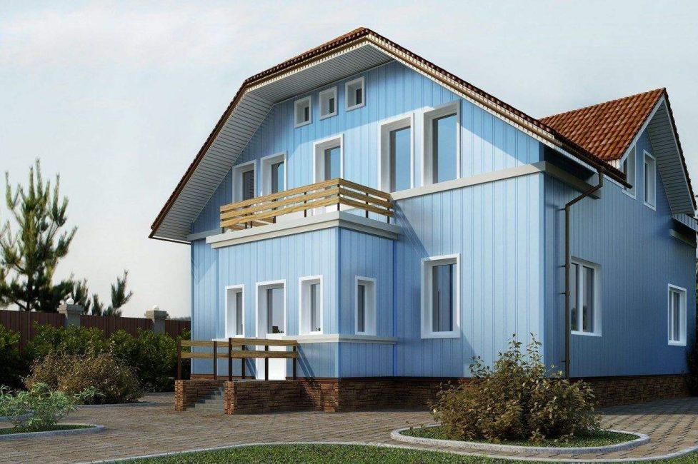Вертикальные изделия сделают дом визуально выше