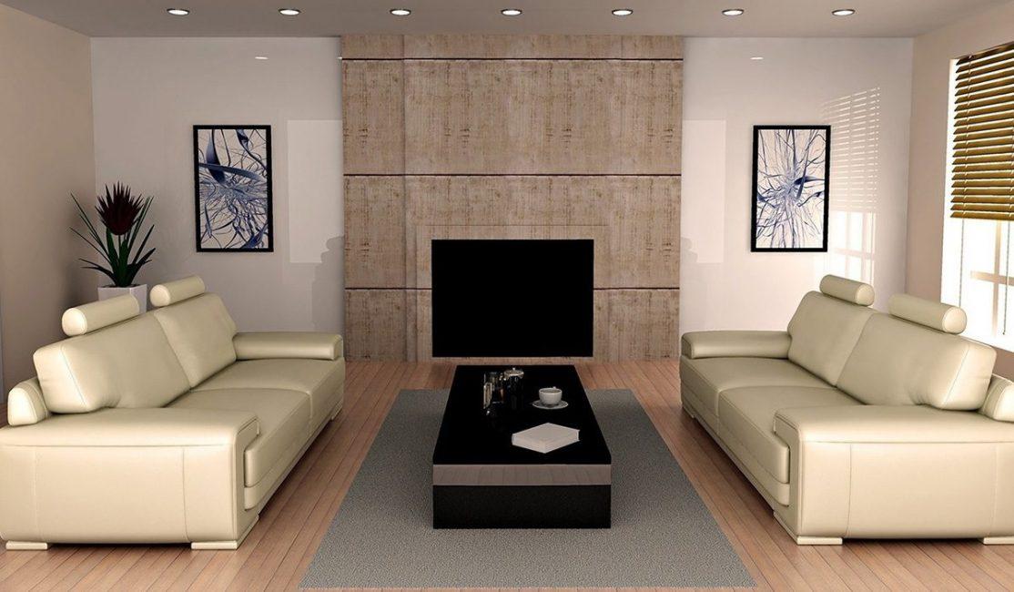 Уместно будет приобретать длинный прямой диван для гостиной