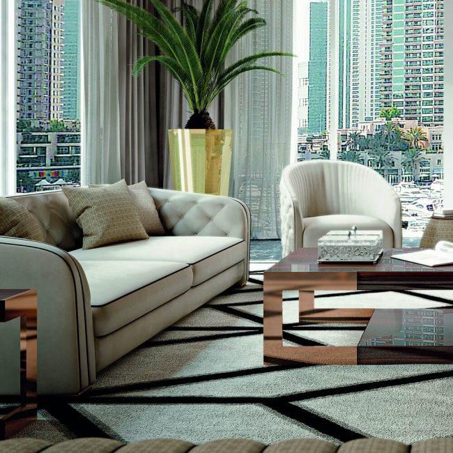 Прямые комплекты для гостиной должны создавать уют в помещении