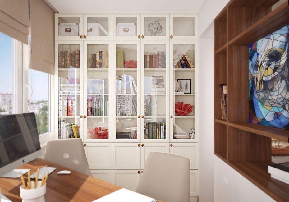 Белые модели для книг, несмотря на простоту, выглядят современно и необычно