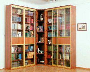 Книжные шкафы со стеклянными дверцами - 170+ (Фото) Вариантов моделей