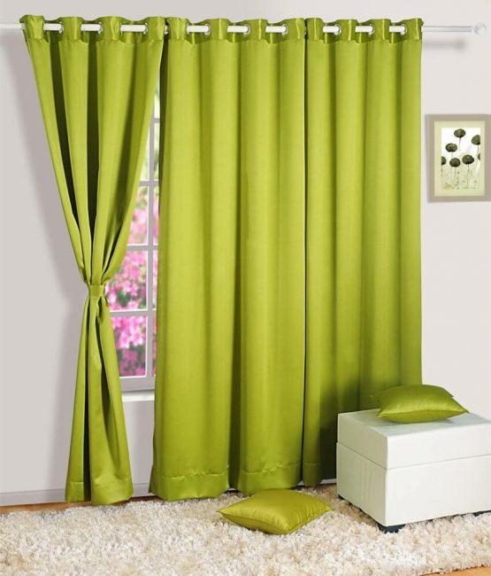 Зеленый, летний цвет занавески