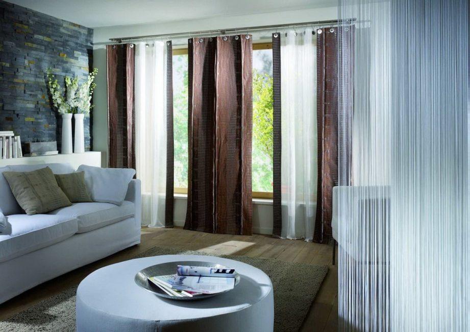 Двойная штора характеризуется удобством и практичностью