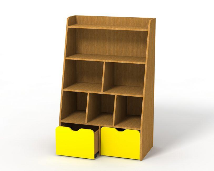 Установка стеллажа поможет добиться порядка в вещах