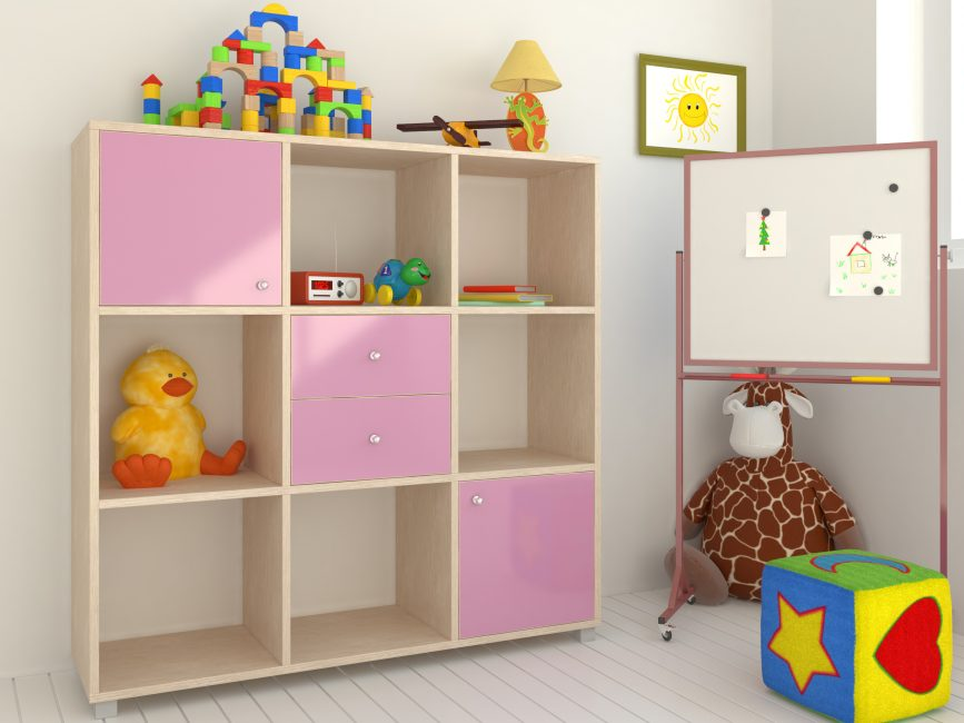 Чаще используется для игрушек или книг