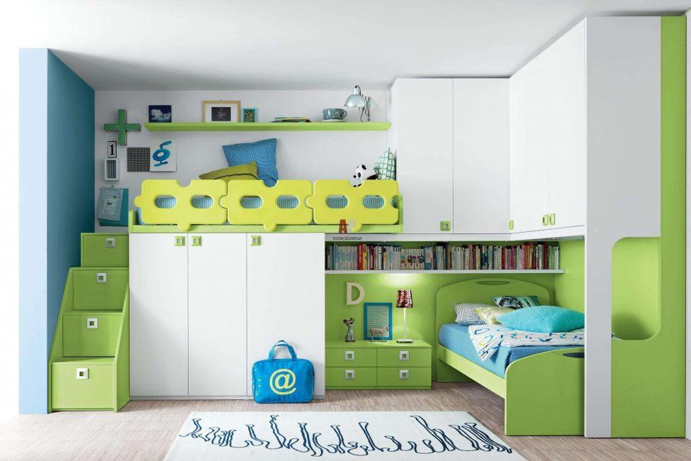 Интересная организация пространства для двух детей