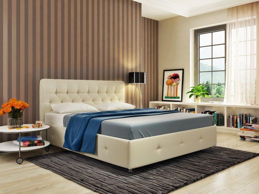 Вельвет и велюр - популярные обивки для кроватей