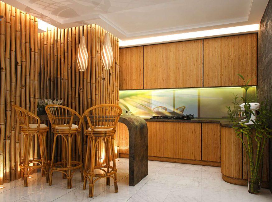 Способ имитации бамбука