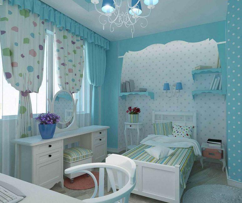 Разбавляем детскую белой мебелью