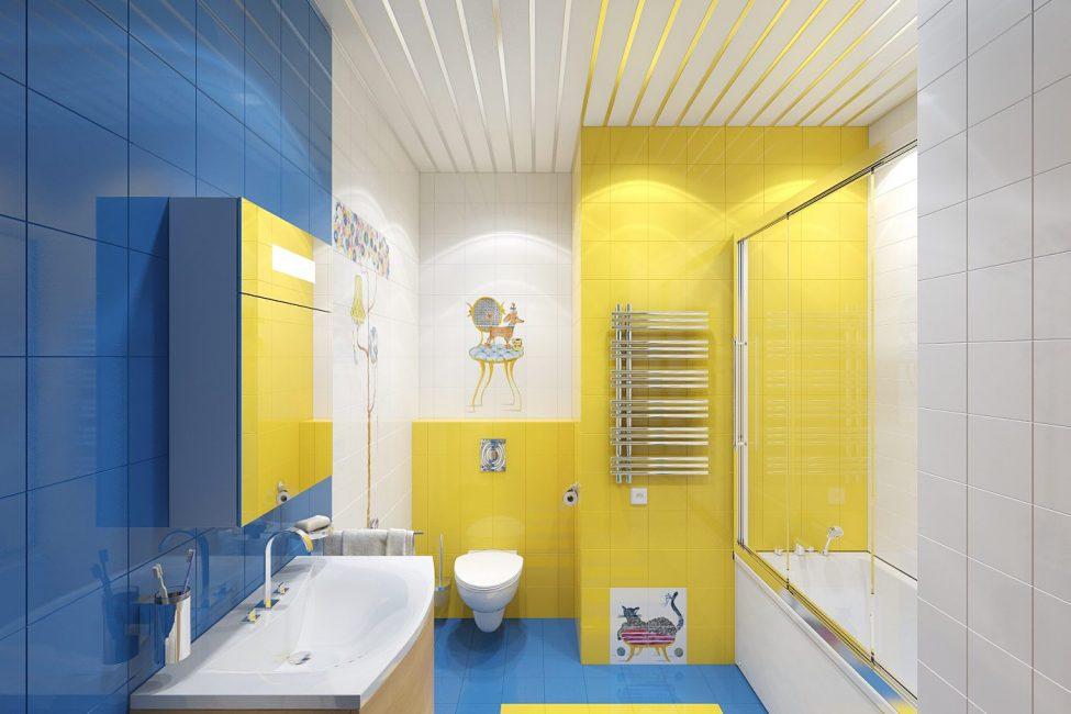 Ярко-желтая краска на стенах