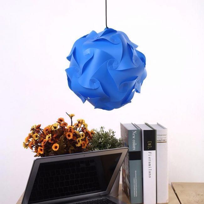 Синий абажур для яркого дизайна