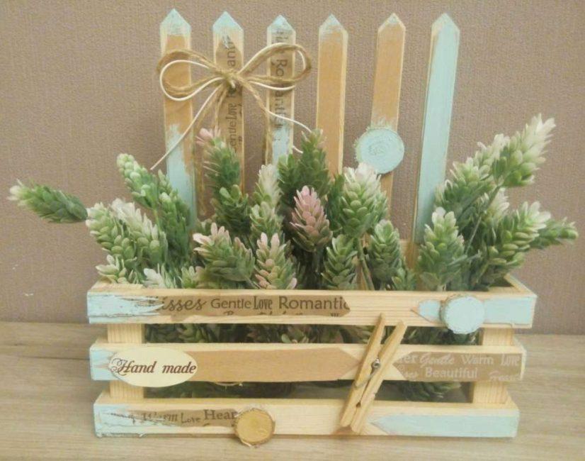 Деревянный заборчик для Ваших растений