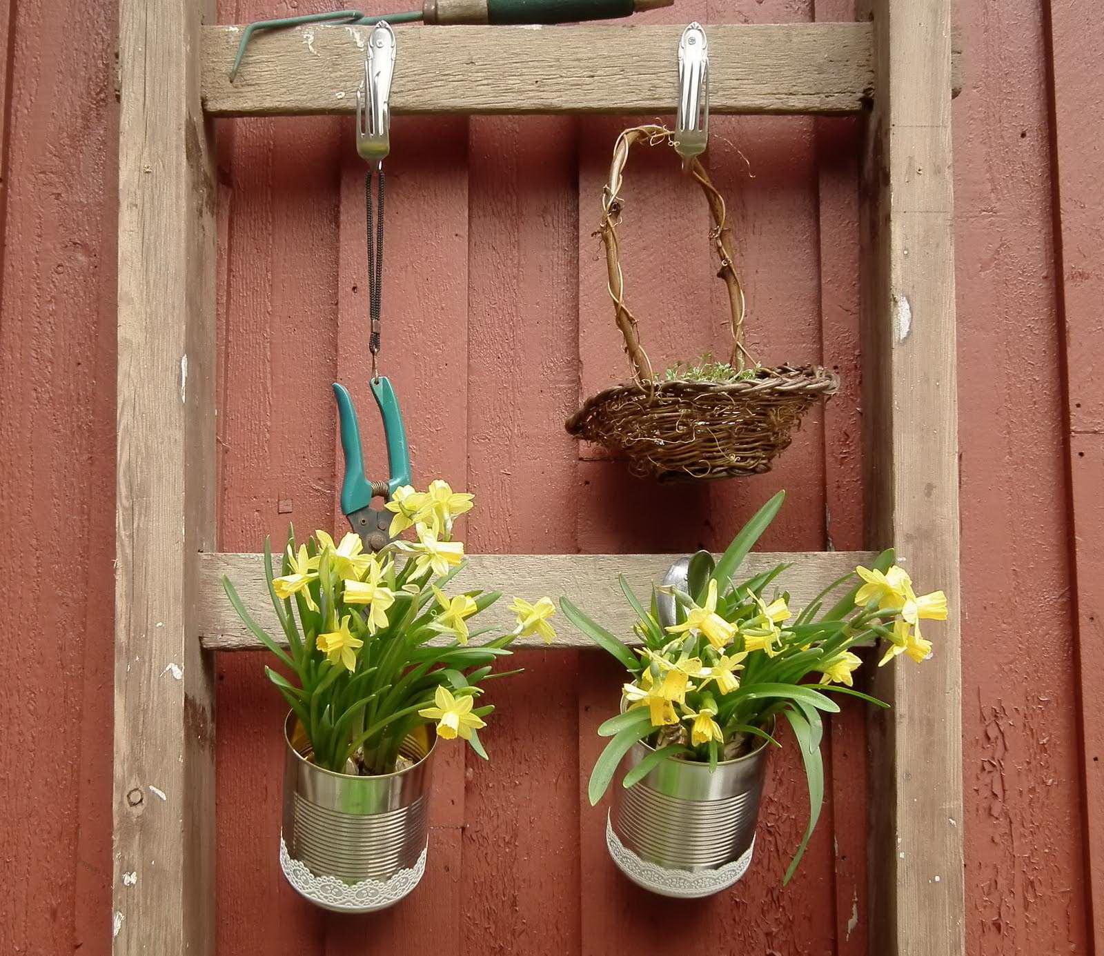 Оригинальные уличные кашпо Горшки подвесные для сада своими руками фото