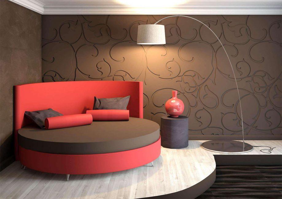 Круглая кровать для небольших квартир