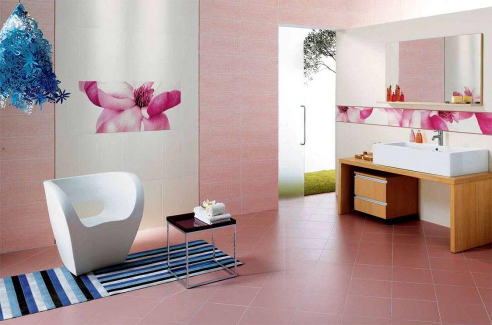 Прекрасная комбинация для ванной комнаты