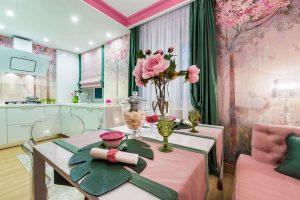 Розовый цвет: 220+ (Фото) Вариантов сочетаний в интерьере разных комнат