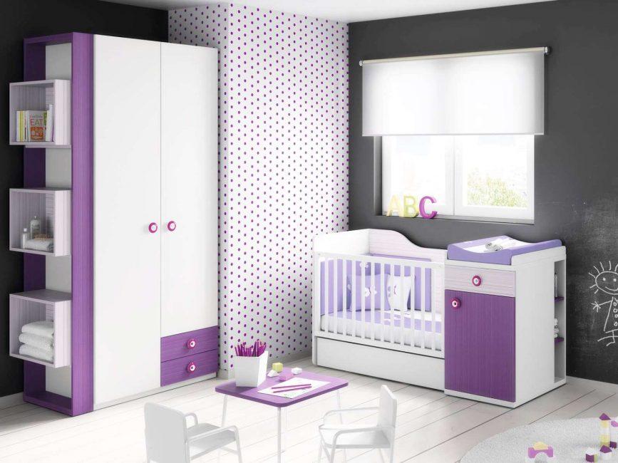 Интересно смотрится в комнате новорожденного