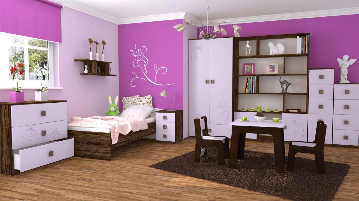 Красивая и нежная спальня для девочки