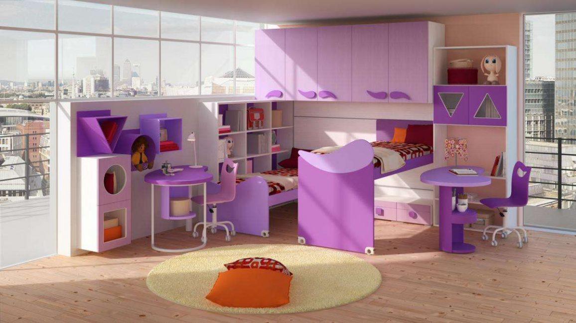 Выбираем сиреневую мебель