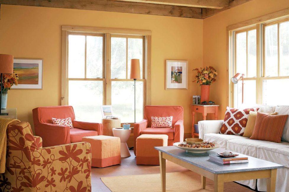 Кресла и стены в тон - прекрасное сочетание
