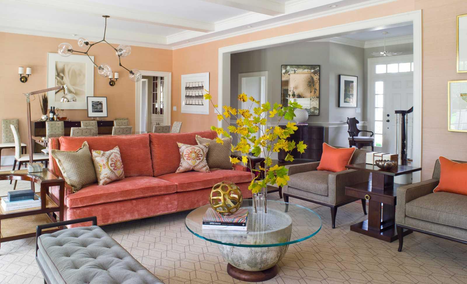 Кирпичный цвет сочетание с другими цветами в интерьере фото