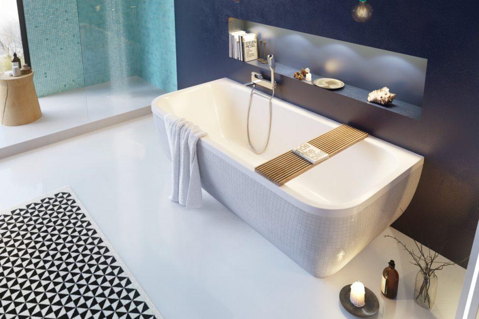 Акриловая ванна может быть любого цвета
