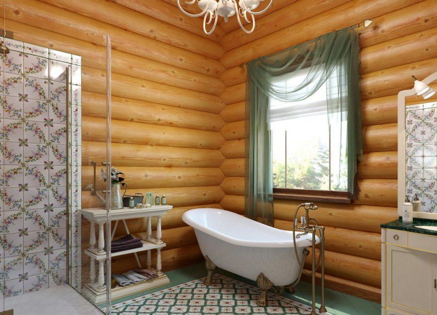 Влажность в ванной - одна из главных проблем для деревянных домов