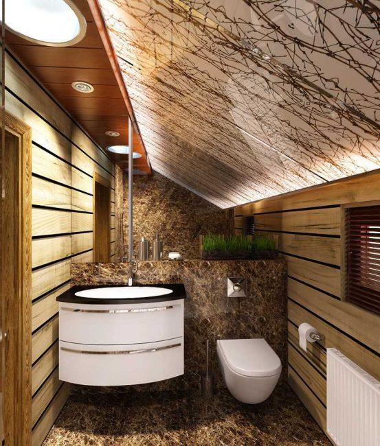 Гидроизоляция — обязательный этап отделки ванной в деревянном доме.