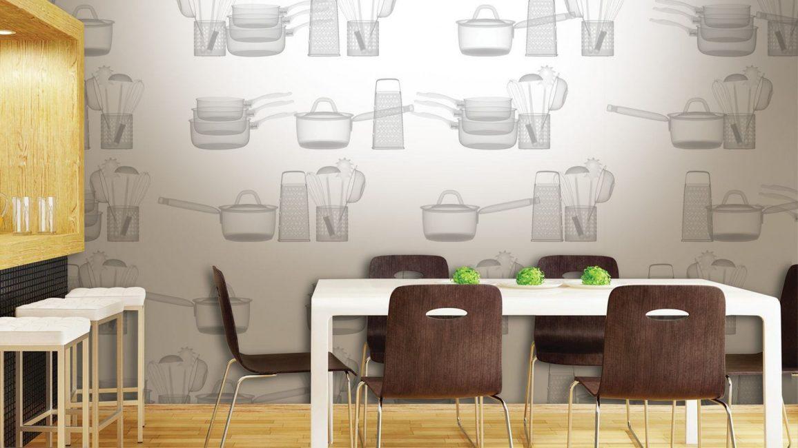 Рисунок в виде кухонной утвари