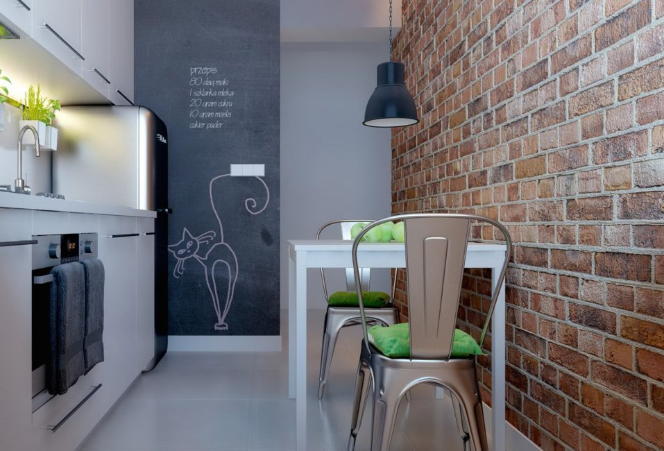Небольшая кухня в лофт стиле