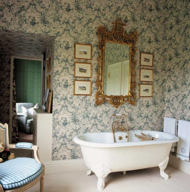 Ванная комната в французском стиле