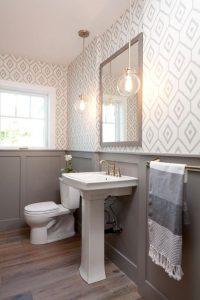Обои в ванную комнату: Какими лучше поклеить? Жидкие, виниловые, моющие, влагостойкие - выбираем самые практичные (115+ Фото)